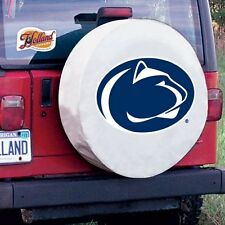 Penn State Tire Cover with Nittany Lions Logo on White Vinyl