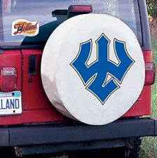 Washington & Lee Tire Cover with Generals Logo on White Vinyl