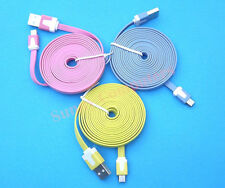 2M Noodle Micro-B USB Data Sync Cable Charge Cord for Samsung S6 S5 S4 S3 NOTE 4