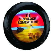 Black Jeep Its 5 Oclock Somewhere Tire Cover