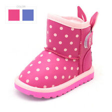 Cute bunny ears kids ankle boots Toddler baby winter shoes Warm baby snow boots