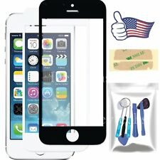 Front Outer Screen Glass Lens Replacement for Apple iPhone 5S Repair Tools Kit
