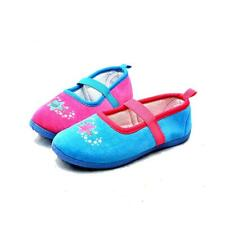 Girls fleece slippers with elastic strap and stars