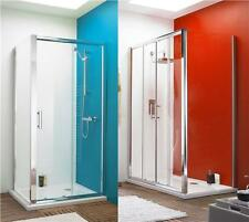 Walk in Single or Double Sliding Door Corner Shower Enclosure Cubicle Stone Tray
