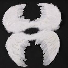 Adults White/Black Feather Angel Wings/Halo Halloween Costume/Cosplay Party