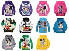 2015 Cartoon Baby Boys Girls Kids Mickey Mouse Tops Shirt Hoodies Sweatshirt 3-8