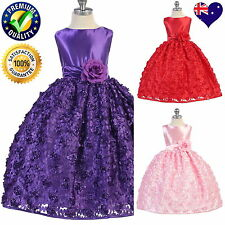 Lovely Girls Dress, Flower Girl Dress, Birthday Party Dress, Purple, Pink, Red