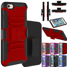 "For Apple iPhone 6 6S 4.7"" Armor Rugged Holster Swivel Belt Clip Kick Stand Case"
