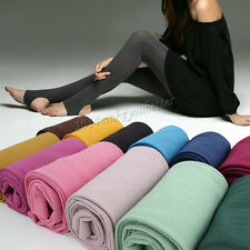 Multi-color Comfort Velvet Stretch Women Footless Stirrup Tights Slim Stockings