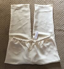 NWT Women's Silhouettes Ivory or Brown Drawstring Elastic Waist Pants