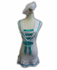 Ladies White Sailor Fancy Dress Halloween Outfit