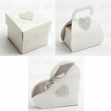 Luxury DIY Wedding Party Favour Gift Sweet Boxes - SPHERE PEARL IVORY Range
