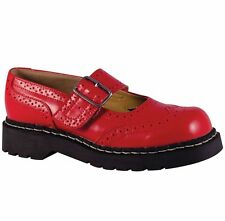 T.U.K Anarchic T2179 TUK Mary Jane Shoes Red