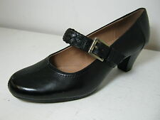Ladies Clarks Fearne Dew Black Leather Smart Mary Jane Court Shoes