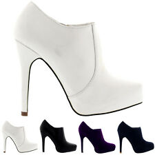 Ladies Ankle High Party Platforms Shoes Stiletto Evening Heels Boots All Sizes