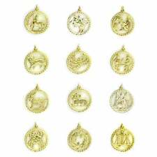 New 9ct Yellow Gold Zodiac, Star Sign, Horoscope, Astrology Pendant or Charm