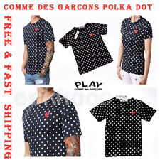 COMME Des GARCONS CDG PLAY Polka Dot Black Men Women T Shirt Short Sleeve SMLXL