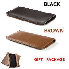 Premium Genuine Leather Eyeglass Glasses Sunglasses Case Bag Pouch with Clip NEW