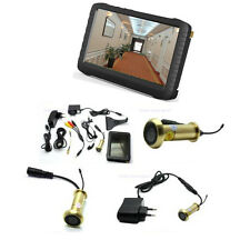Mini 5.8G wireless apartment door camera system with 5 inch HD mini monitor DVR