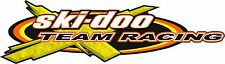 SKI-DOO Team Logo / YELLOW / vehicle decal / snowmobile / trailer / sticker