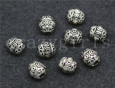 10/50/260pcs Tibetan Silver Beautiful Circular Charms Jewelry Spacer Beads 7x6mm