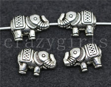 10/40/200pcs Tibetan Silver Beautiful Elephant Jewelry Charm Spacer Beads 13X9mm