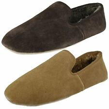 Mens Clarks Suede Full Slipper Kite Wolseley
