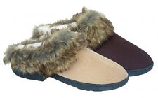 Ladies Fleece Lined Slip On TOTES Mule Womens House Slippers Faux Fur Clogs