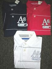 NEW MENS AEROPOSTALE S/S A87 GRAPHIC JERSEY POLO SHIRT, PICK A COLOR AND SIZE