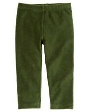 GYMBOREE COZY OWL DARK GREEN VELOUR LEGGINGS 6 12 NWT