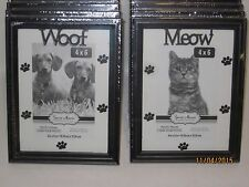"Pet Picture Frame ""WOOF"" Dog Photo Frame or ""MEOW"" For Cats - Family Pet Photo"