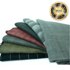 "Gray Base Unisex 100% CASHMERE Warm wrap Scarf Wool SCOTLAND 72""long*12""wide"