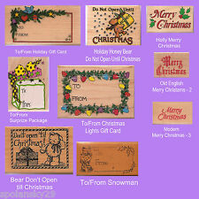 ASSORTED CHRISTMAS THEME WOOD MOUNTED RUBBER STAMPS