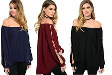 WOMENS LADIES CHIFFON CUT OUT SLEEVE PARTY TUNIC BLOUSE TOP SIZE 14 16 18 20
