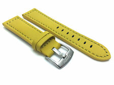 Yellow Leather Watch Strap Band, 20mm, 22 24 26 28mm fit Fossil, Hamilton & More