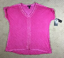 NWT Women's Style & Co. Plus Size Pink Knit Sequined Knit Top