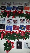 Forever Collectibles Team Mistletoe Ornament Kiss Me I'm A Fan Pick Your Team