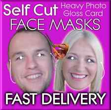 12 Custom Made Self Cut Face Mask Kits Birthday Party Fancy Dress Stag Hen Party