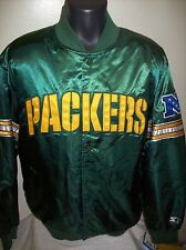 GREEN BAY PACKERS Starter Snap Down Jacket SMALL XL GREEN