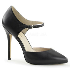 Amuse-35 in Black Leather, Black Patent, Nude Leather