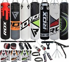 "RDX 55"" Boxing Set 60lbs Punch Bag Gloves Bracket Chains Ceiling Hook Punching B"