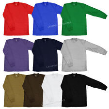 Mens Thermal Long Sleeve Waffle T-Shirts Plain Basic Color Tee New