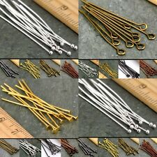 Lot 20mm,30mm,40mm,50mm,Eye Pin Flat Head Pin Ball Pin Jewelry Finding Craft DIY