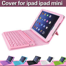 Leather Wireless Bluetooth Keyboard Apple iPad MINI Case Cover Stand
