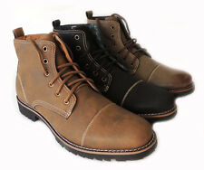 NEW FERRO ALDO MEN ANKLE BOOTS MILITARY COMBAT STYLE LEATHER LINED SHOES LACE UP