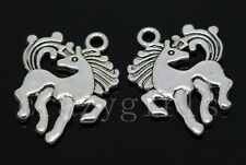 15/60/300pcs Tibetan Silver Lovely horse Jewelry Craft Charms Pendant 19x16mm
