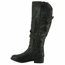 Blossom Pita 32 Black Women's Slouchy Knee High Classic Riding Boots