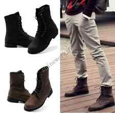 Men Retro Combat boots Winter England-style fashionable short shoes 2 Colors A29
