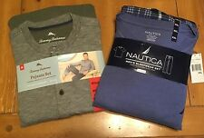Tommy Bahama or Nautica Mens 2Pc 100% Cotton Pajama Set ~ NEW WITH TAGS