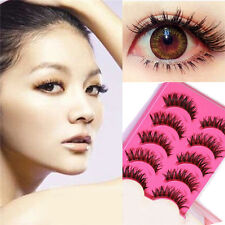 10Pairs New Makeup False Eyelashes Soft Natural Cross Long Eye Lashes Extension